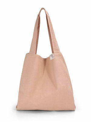 Natural Shopping Bag - Blush