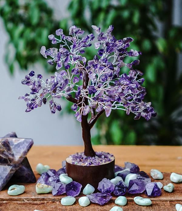 Amethyst Tree - Medium Brown
