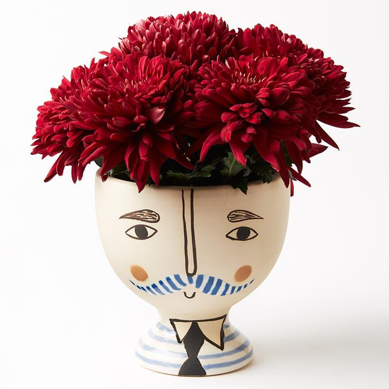 Dapper Face Vase Planter
