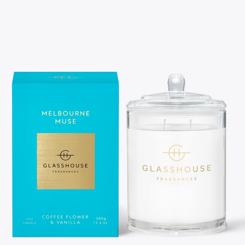 380g Candle - MELBOURNE MUSE By Glasshouse