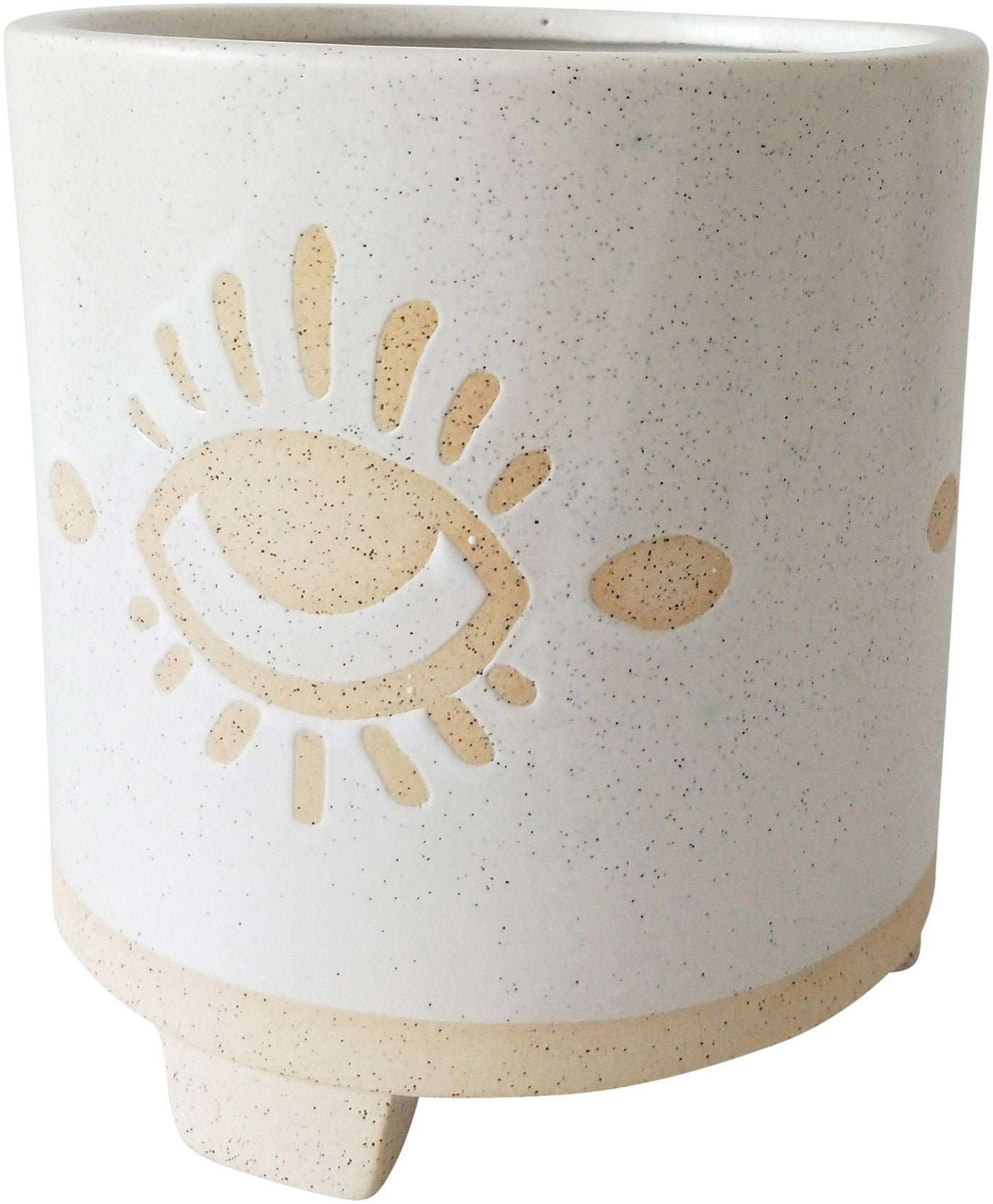 Elemental Eye Planter White Sand Med 15cm