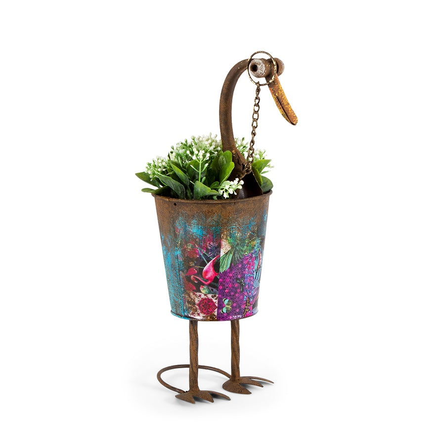 'Natures Art' Smart Duck Potplanter-Blue