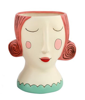 Red Rose Lady Planter