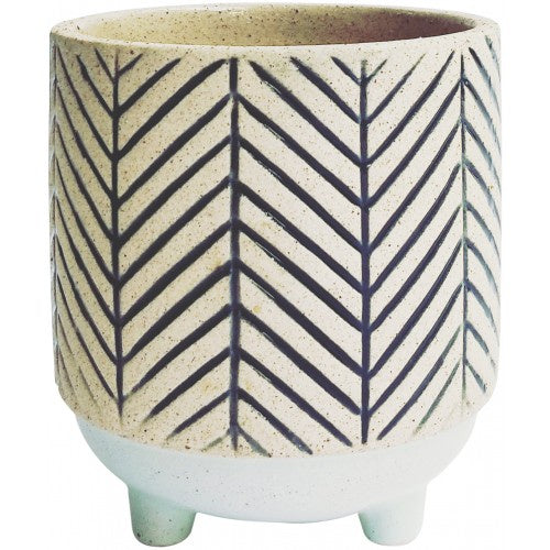 Kyra Stripe Planter With Legs Navy