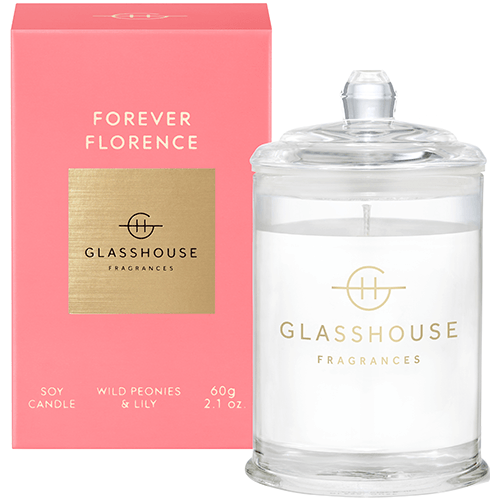 380g Candle - FOREVER FLORENCE By Glasshouse