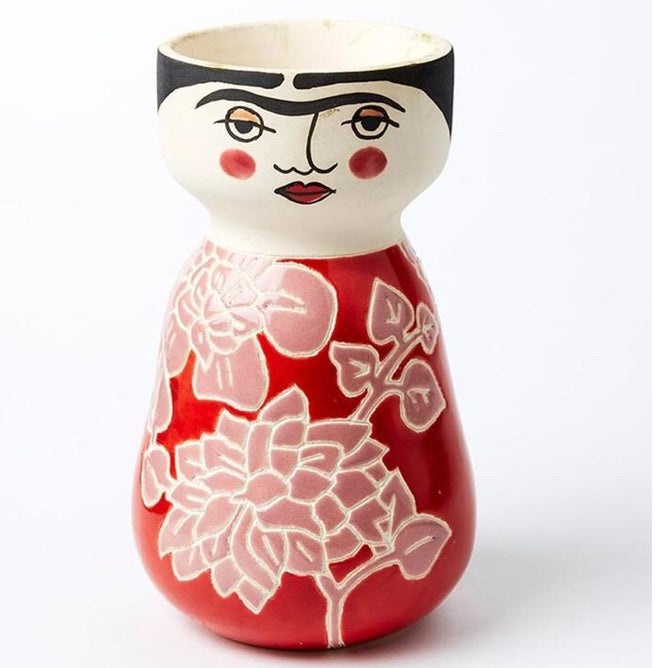 Rosy Frida Face Vase