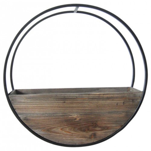 Wooden Wall Planter Full Circle - Medium 50cm