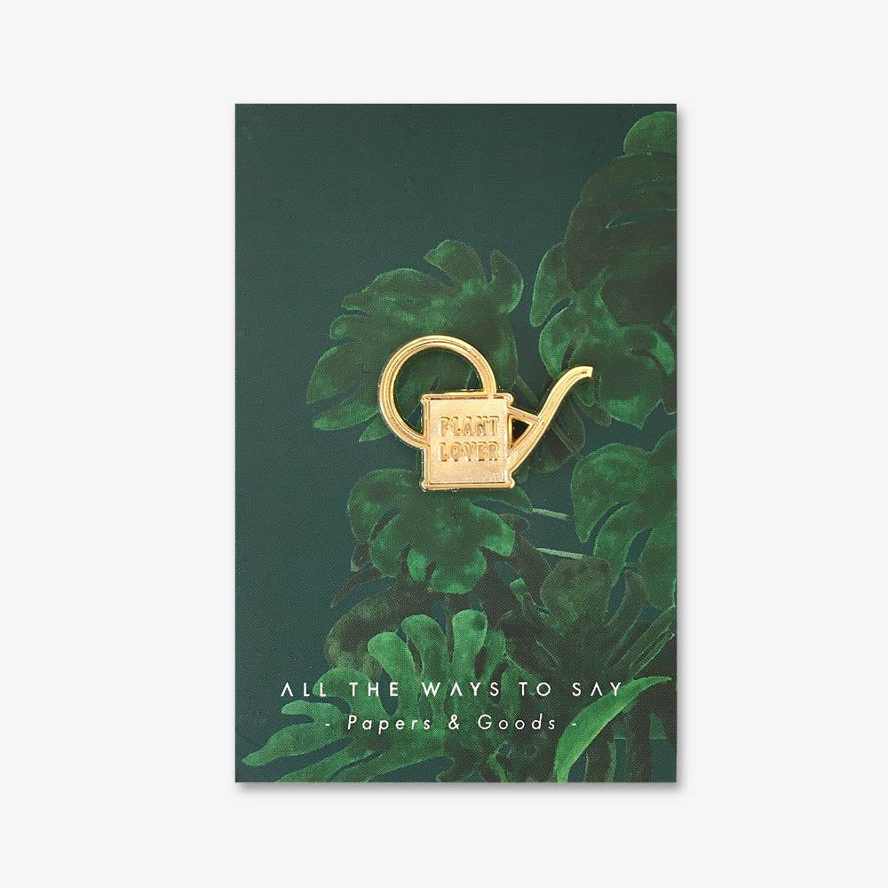 Plant Lover Watercan Enamel Pin Badge