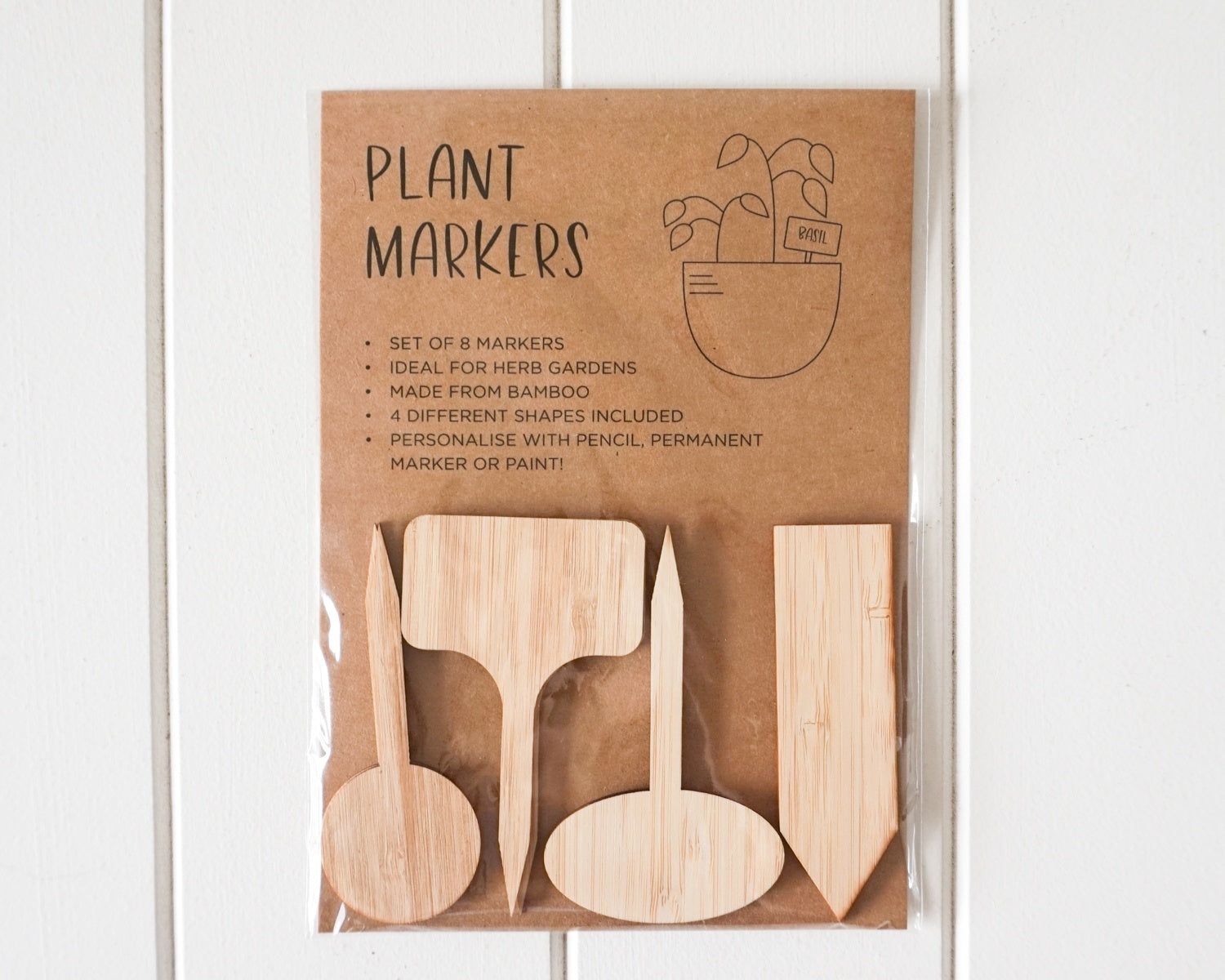 Plant Tags - Mixed Pack of 8 - 10cm