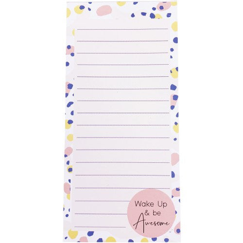 Wake Up & Be Awesome Notepad Peach 20cm
