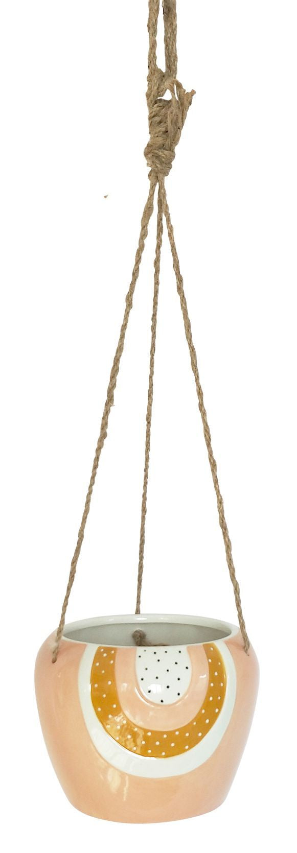 Woodstock Rainbow Hanging Planter Pink Small