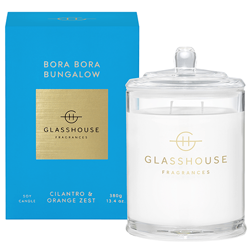 380g Candle - BORA BORA BUNGALOW By Glasshouse