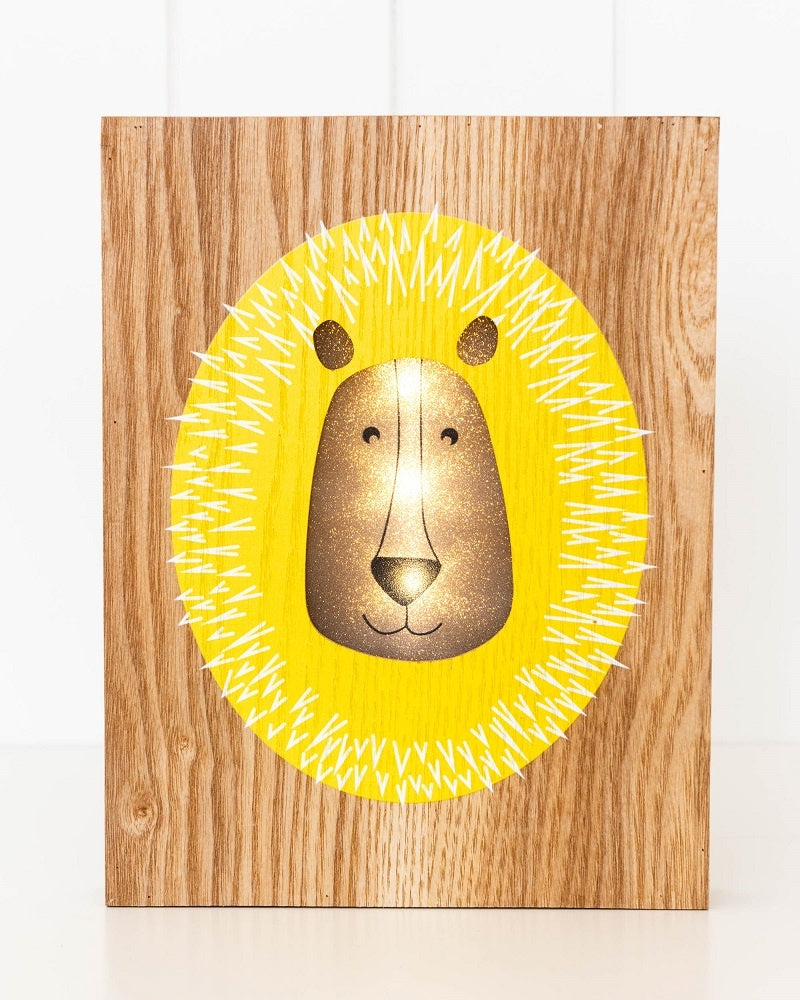 LED Light Box - Lazy Lion