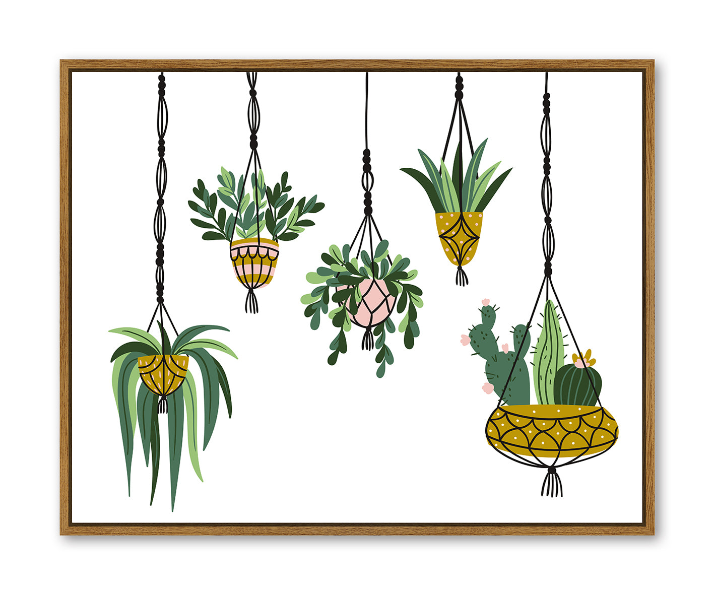 Floating Frame - Hanging Planters - 100x80