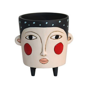 Black Polly Face Planter