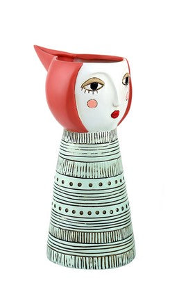 Lady Red Watering Can/Vase