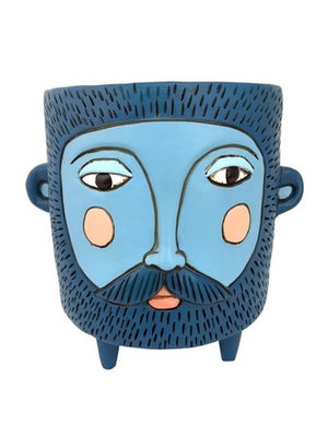 Hairy Jack Planter - Blue