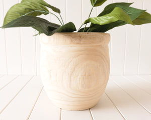Pot/Planter- Tamati - Timber Large - 25x26