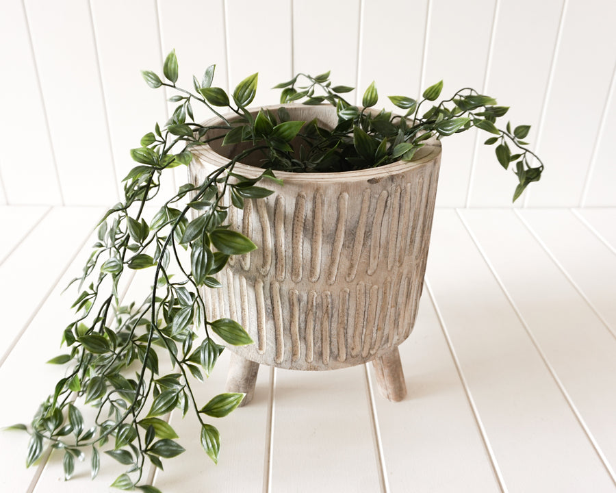 Pot/Planter - Tokoriki - Timber Medium White Wash - 22x25