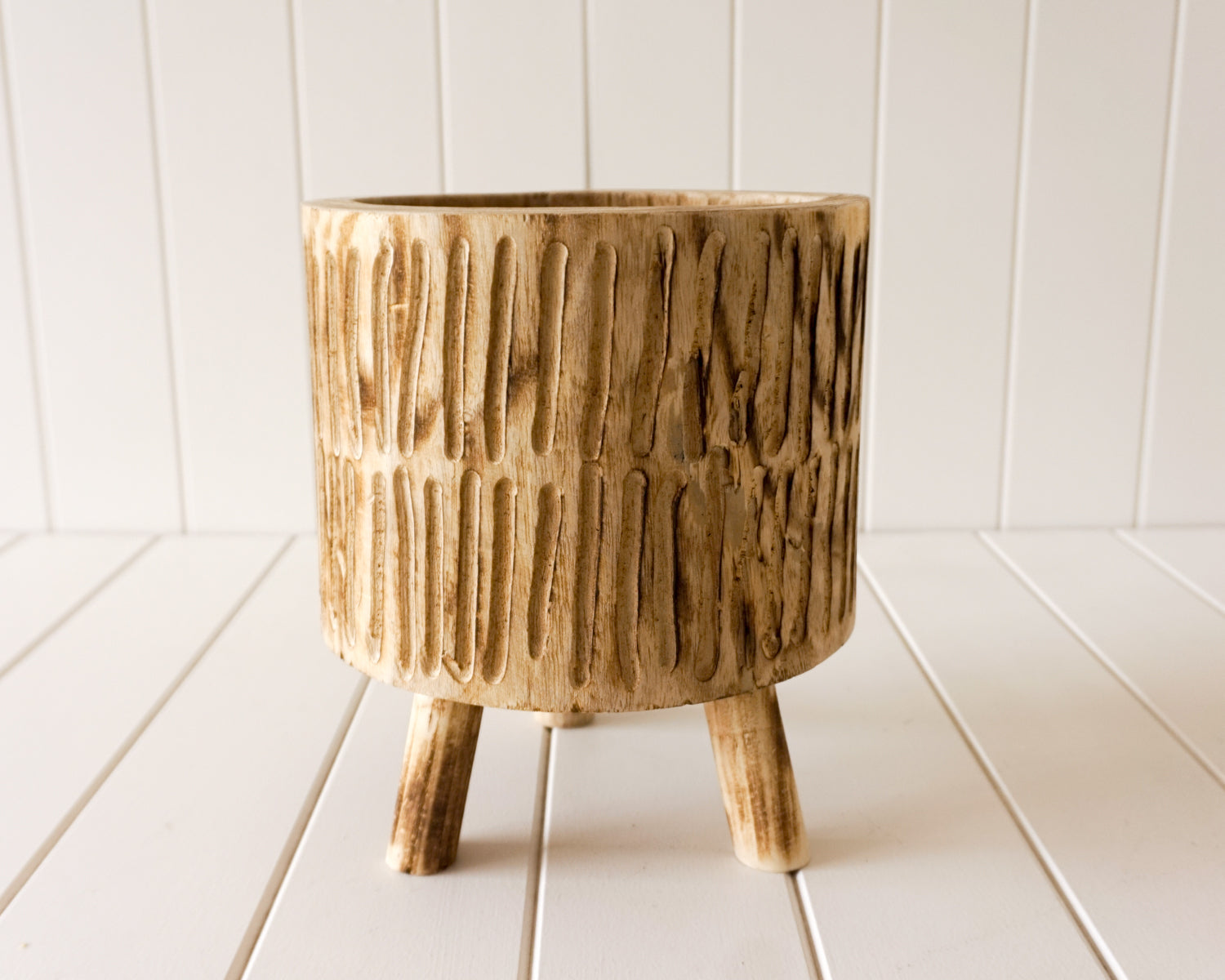 Pot/Planter - Tokoriki - Timber Medium Natural - 22x25