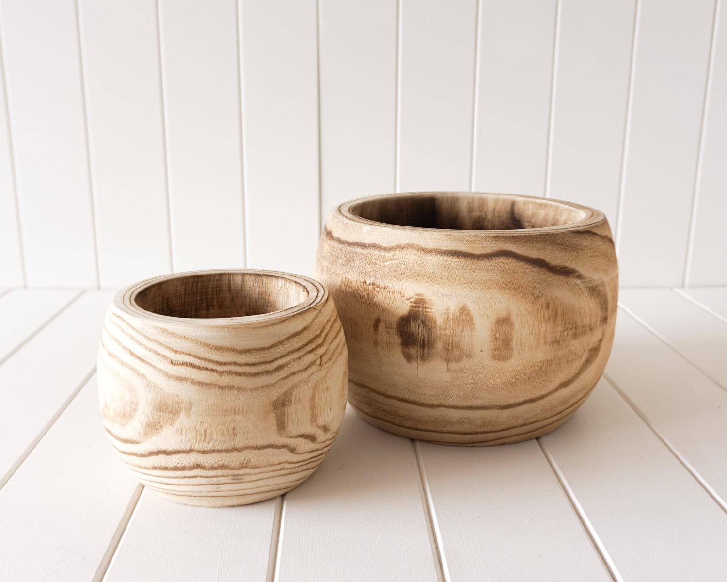 Pot/Planter - Leilani - Timber Large / small - Natural - 23x17/15x13