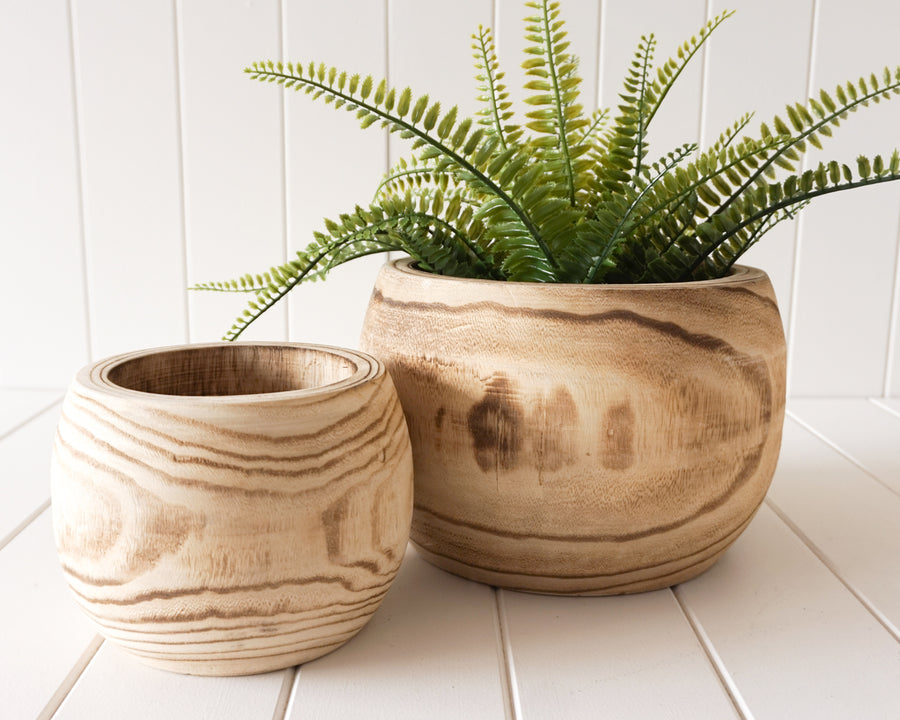 Pot/Planter - Leilani - Timber Set of 2 - Natural - 23x17/15x13