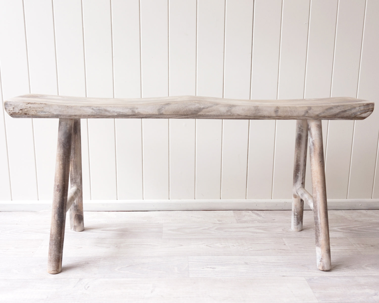 Bench/Stool - Honi - Timber - Whitewash - 99x19x47