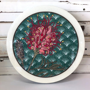 Circle Woodblock Wall Art - Grevillea