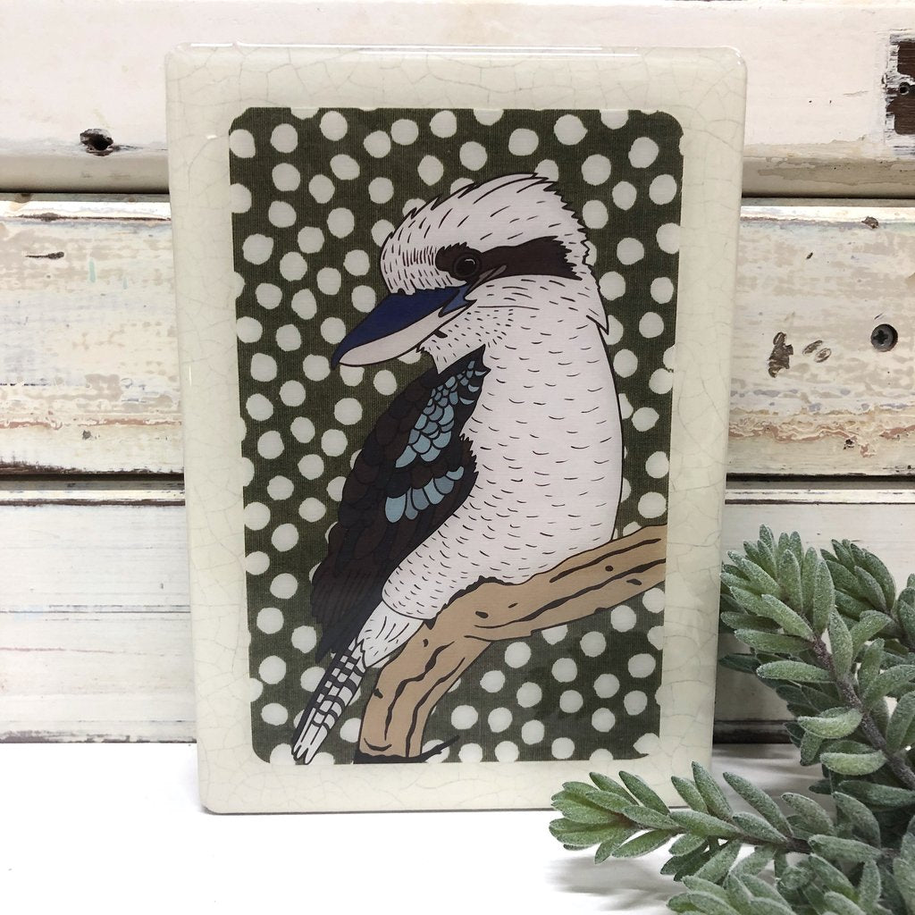 Medi Woodblock Wall Art - Kookaburra