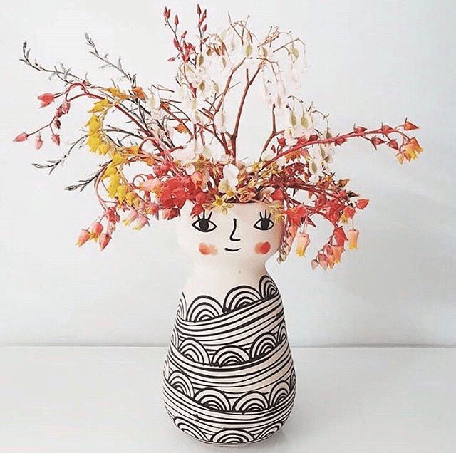 Miss Cozette Face Vase