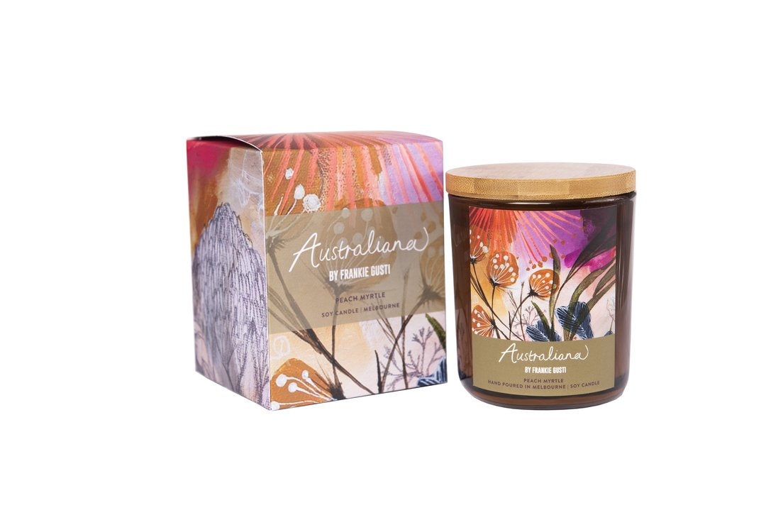 Candle (Peach Myrtle) - Medium Honeys - Australiana Collection