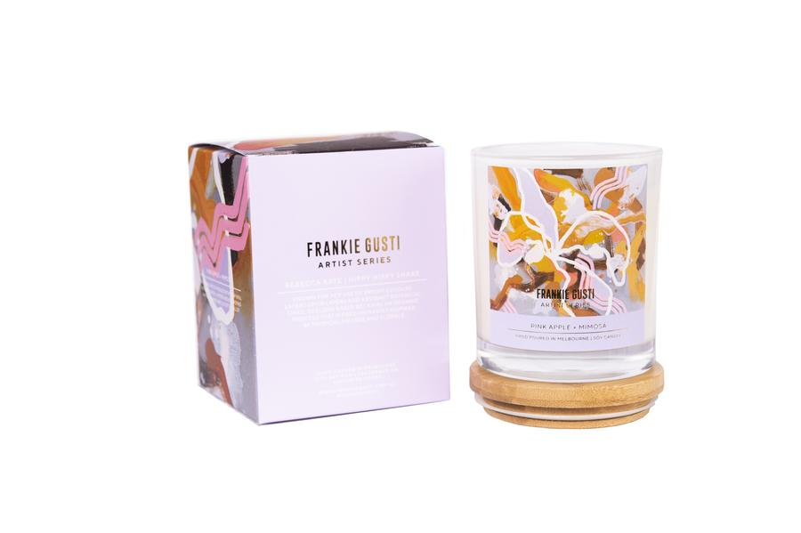Frankie Gusti Candle 2020 Artist Collection - Rebecca Kate - Pink Apple + Mimosa