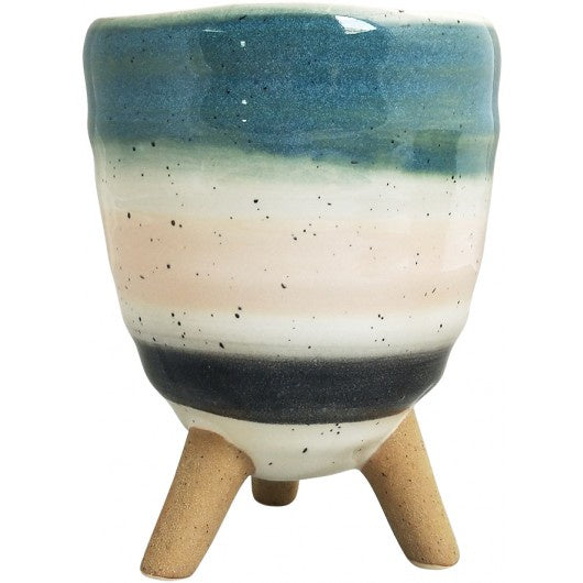Veio Planter on Legs - Pink & Blue