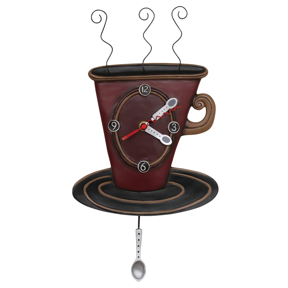 Cozy Cafe Coffee Cup Clock