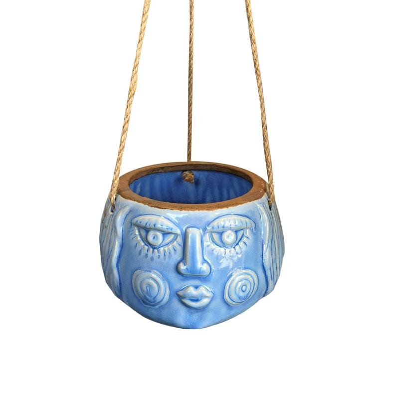 Amelia Hanging Planter Pale Blue - Small (14cm)