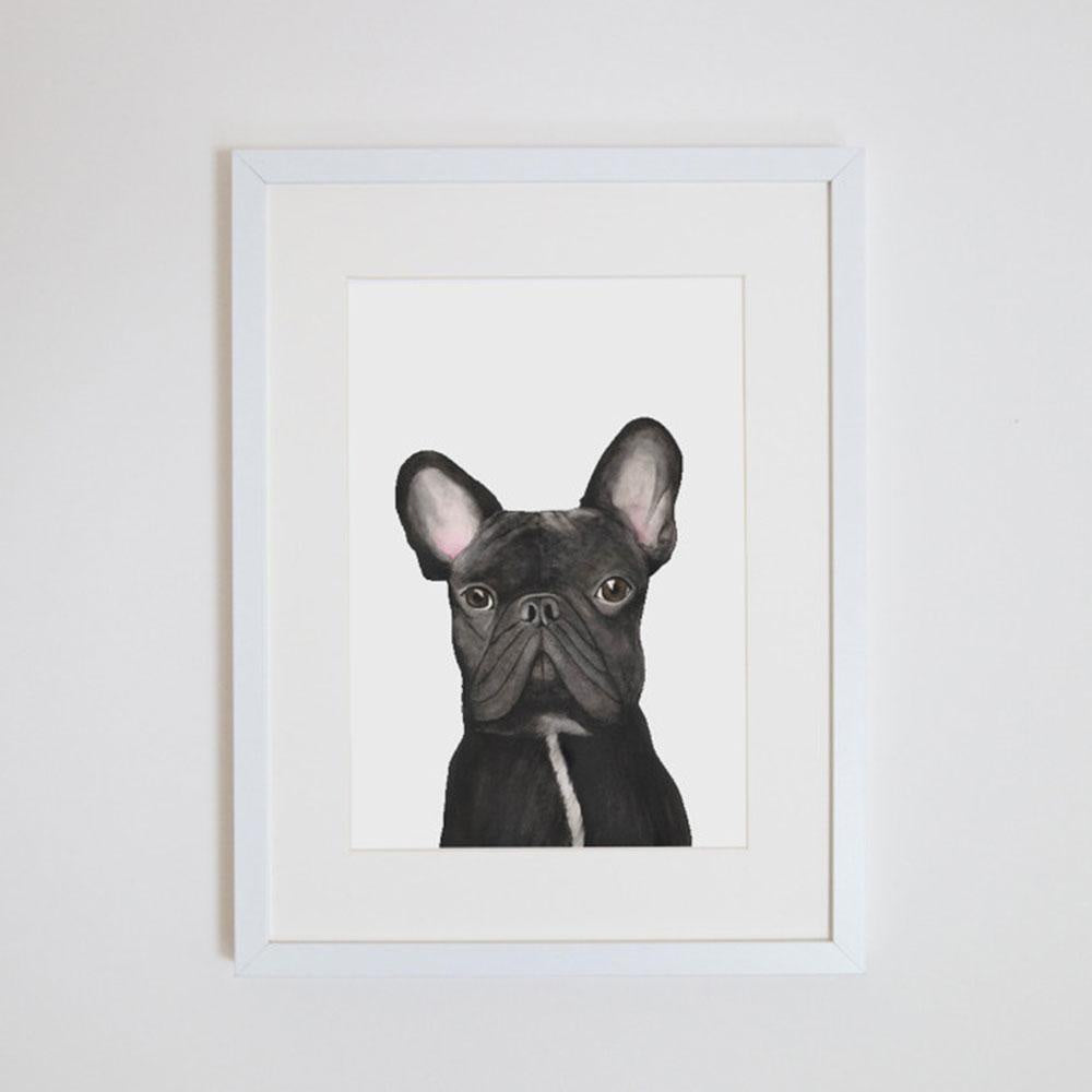 Gilbert The French Bulldog - A4 Print