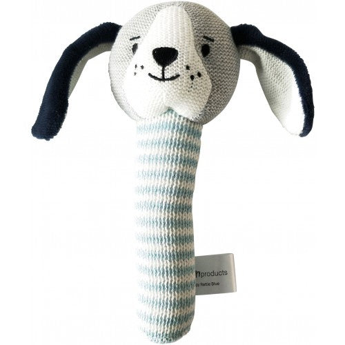 Puppy Rattle Blue 18cm