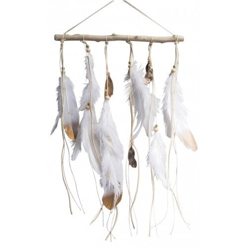 White Gold Feather Hanger