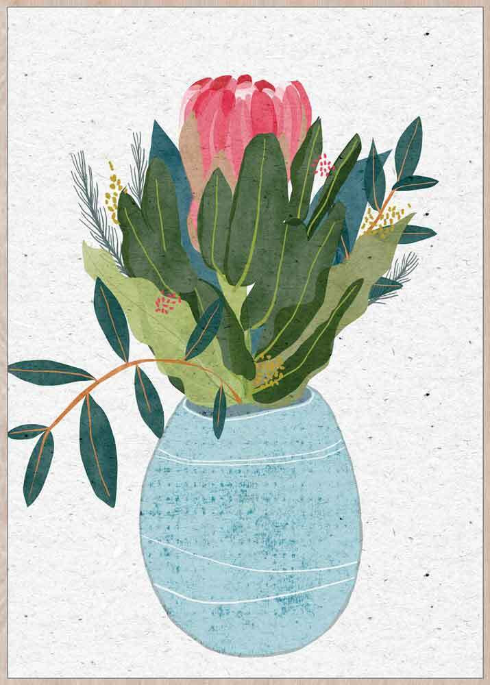 Premium Edition - Pretty Potted Protea - 62x92