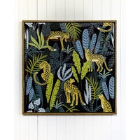 Floating Frame - Jungle Life Tigers - 100x100