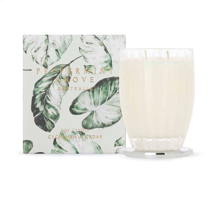 Cyclamen & Cedar Candle Large