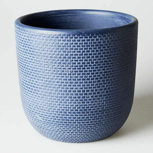 Large Tweed Pot - Indigo
