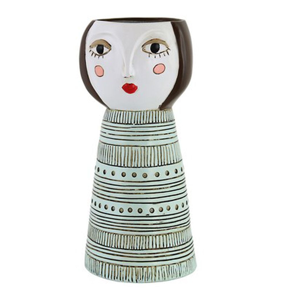 Lady Brunette Vase Planter
