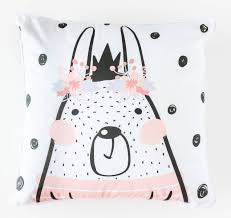 Flower Crown Rabbit Cushion