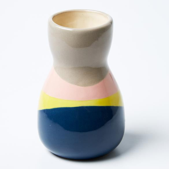 Saturday Vase - Blue Yellow Splice