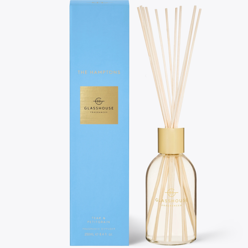 250ml Diffuser - THE HAMPTONS By Glasshouse