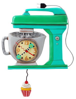 Vintage Mixer Clock Green
