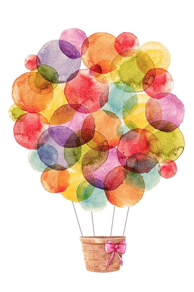 Canvas Print - Watercolour Hot Air Balloon 40x60