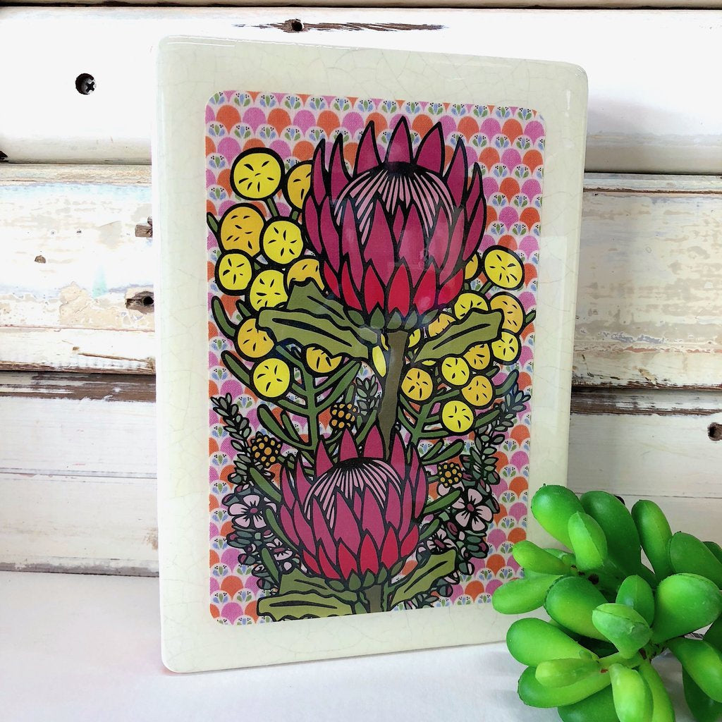 Medi Woodblock Wall Art - Wildflower Bunch