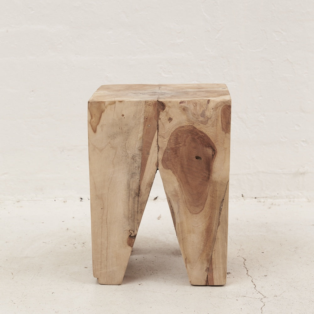 Rafi Wooden Stump / Side Table